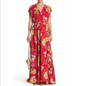 NEW MEGHAN LA red floral Jasmine maxi dress $425
